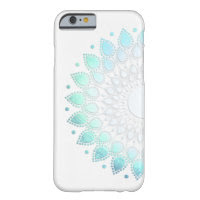 Elegant Light Blue Green Flower Motif Barely There iPhone 6 Case