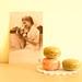 vintage postcard and macaroons