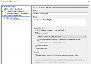 IP On virtual machines from Hyper-V Windows Server