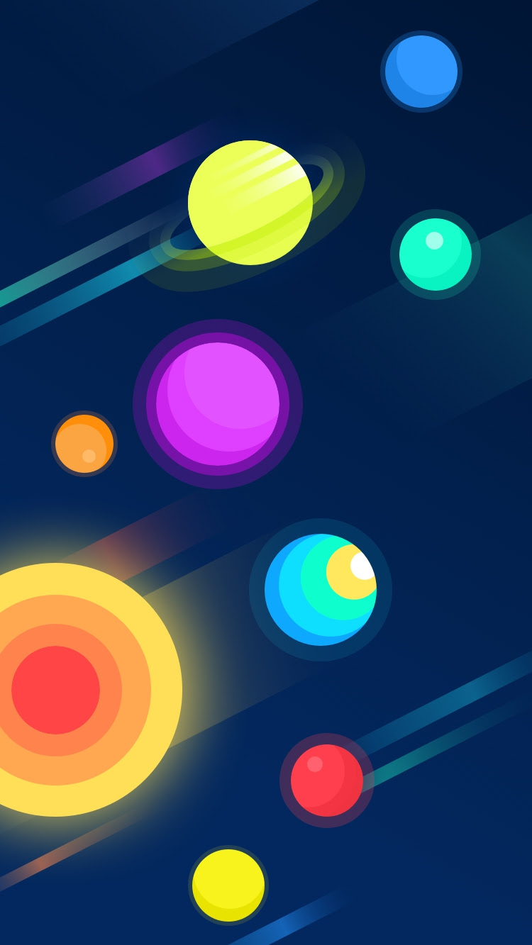 Colorful-Planets-iPhone-Wallpaper - iPhone Wallpapers
