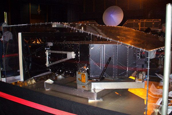 The actual WIDE FIELD AND PLANETARY CAMERA 2, which flew onboard the HUBBLE SPACE TELESCOPE from December 1993 to May 2009.