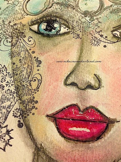 art journal faces images  pinterest drawing