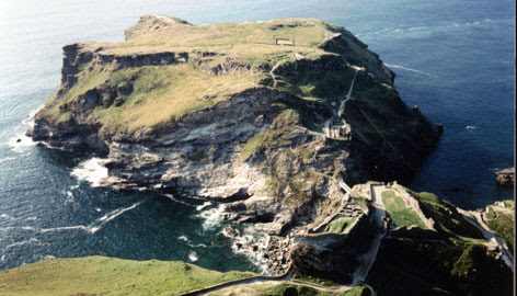 In Cornwall, England: The setting of the ruins of Tintagel Castle are as majestic as its reputed former inhabitants.
