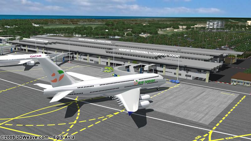 Rendering for new Passenger Terminal at Abidjan Airport