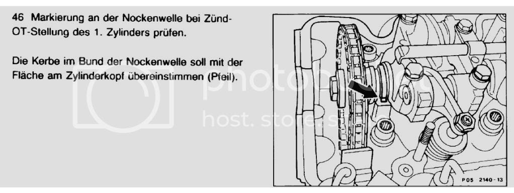 1983 230 Setting The Cam Crank Timing Mercedes Benz Forum