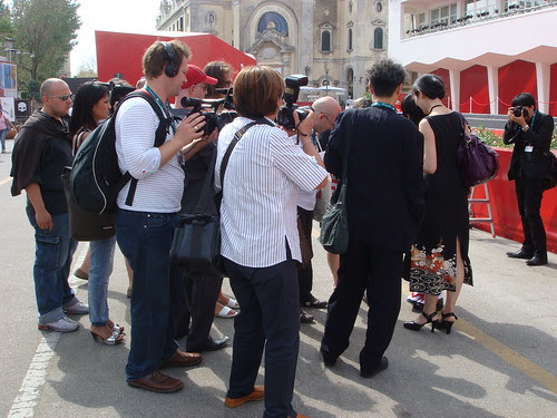 Mobbed by photographers