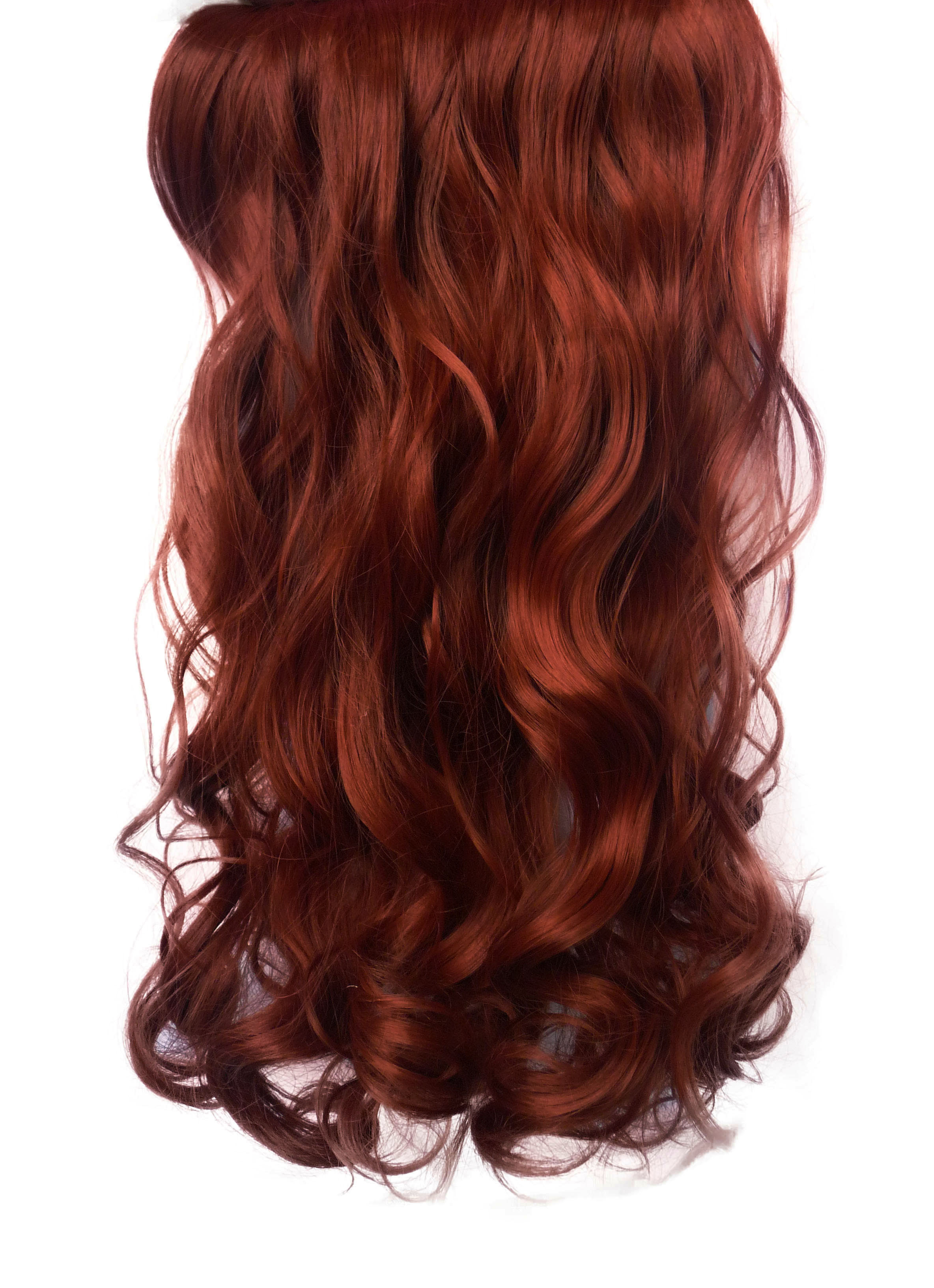 Red Hair Extensions Clip In Uphairstyle