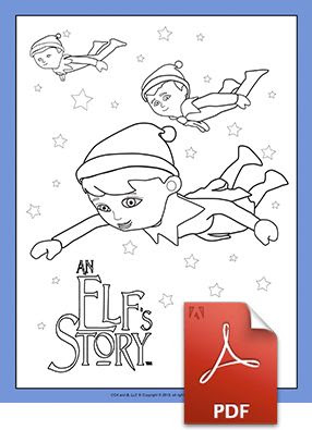 scout elves flying coloring page  elf on the shelf