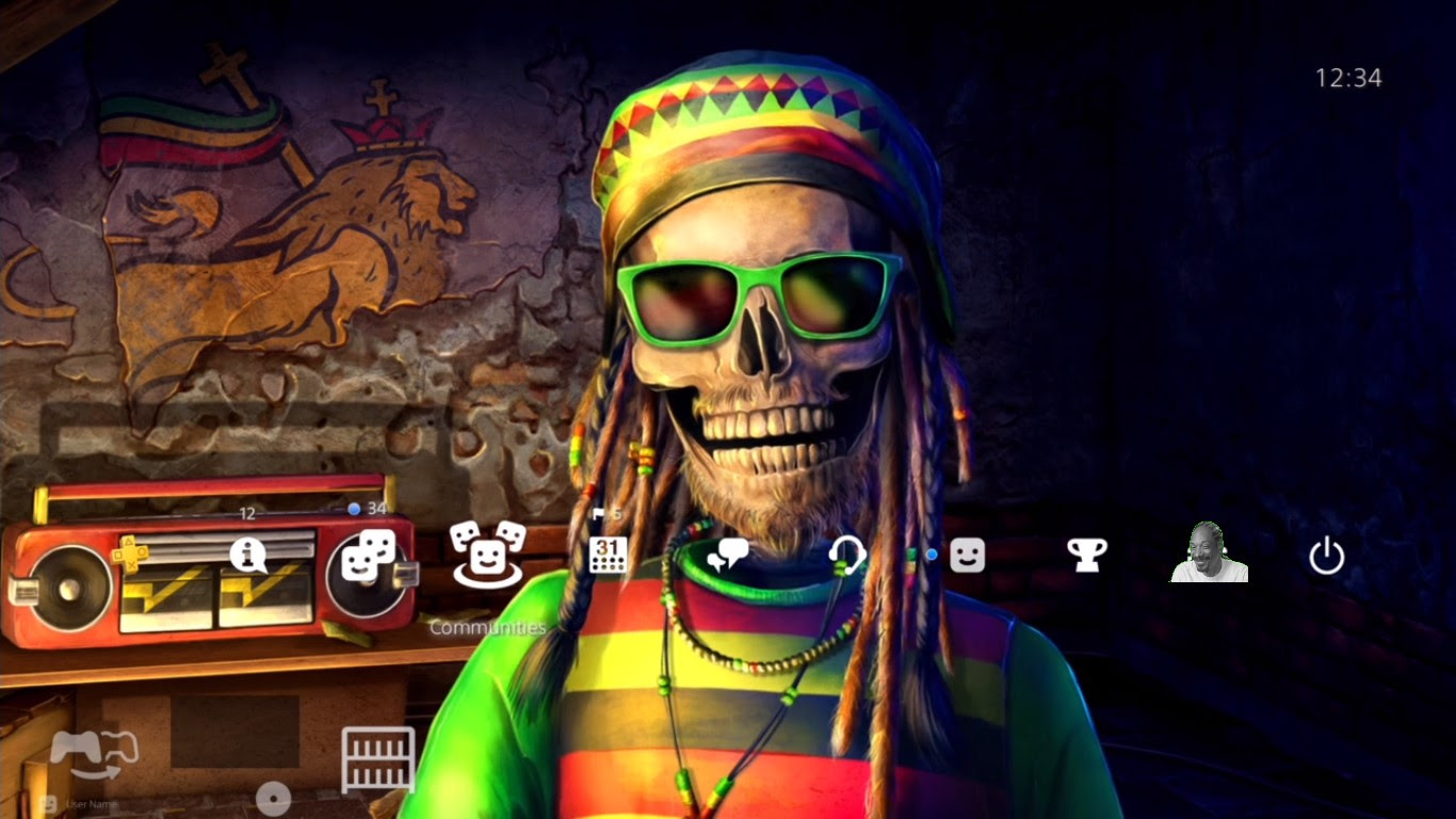 Attention weed-likers: This PS4 theme is hella chill, brahs screenshot