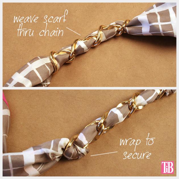 Scarf Chain Wrap Bracelet DIY Weaving Chain