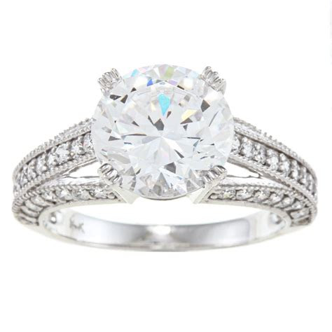 white gold cubic zirconia wedding rings wedding
