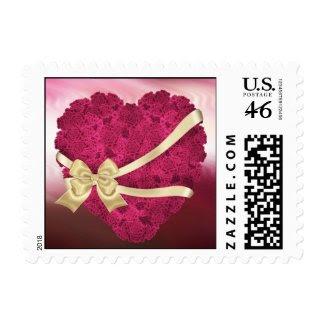 Floral Roses Heart stamp