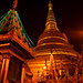 Golden Pagoda agianst Dark Night Sky