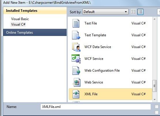 Add XML file
