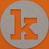 plain card disc letter k