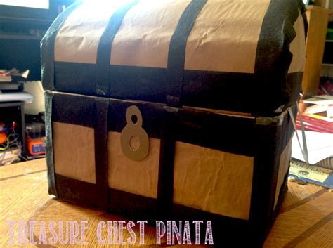 Make a Pirate Treasure Chest Pinata out of a box instructions