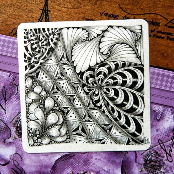 Absolutely Beautiful Zentangle patterns For Many Use (18)