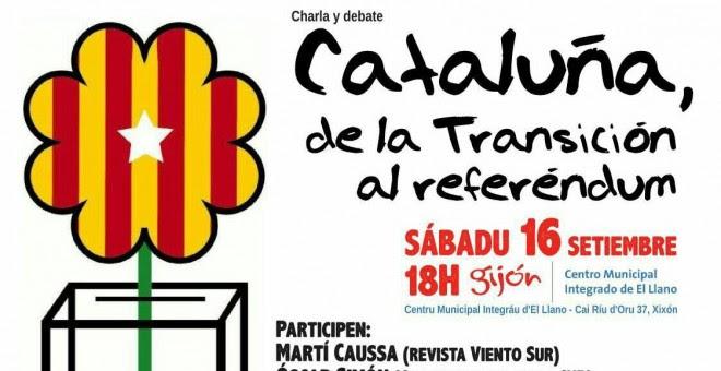 Cartel del acto suspendido en Gijón.