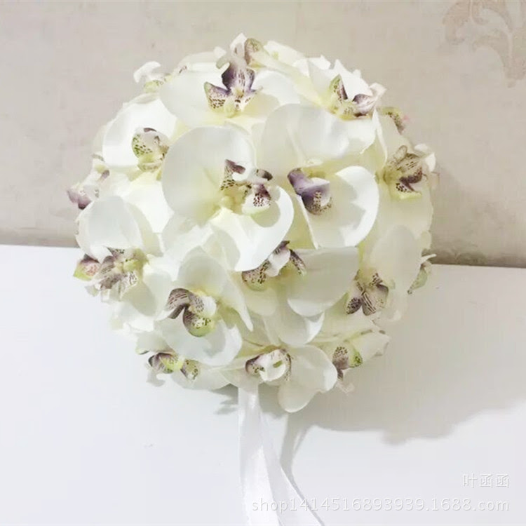 Sale! Orchid Kissing Balls Pomanders Silk Flower Ball