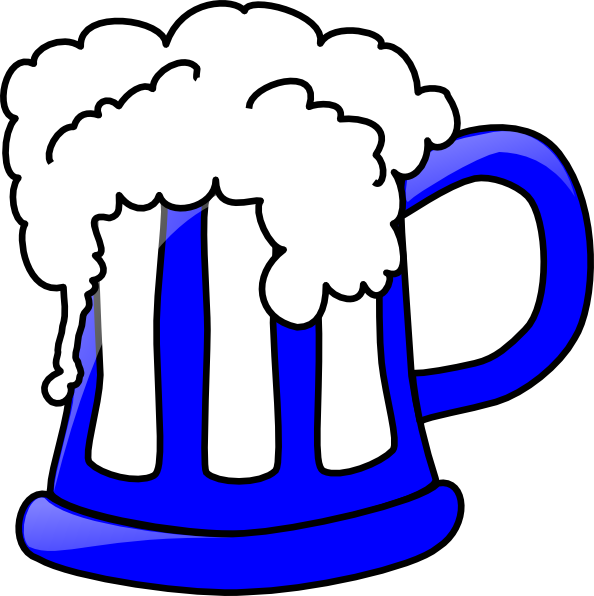 Blue Beer Mug Clip Art at Clker.com - vector clip art ...