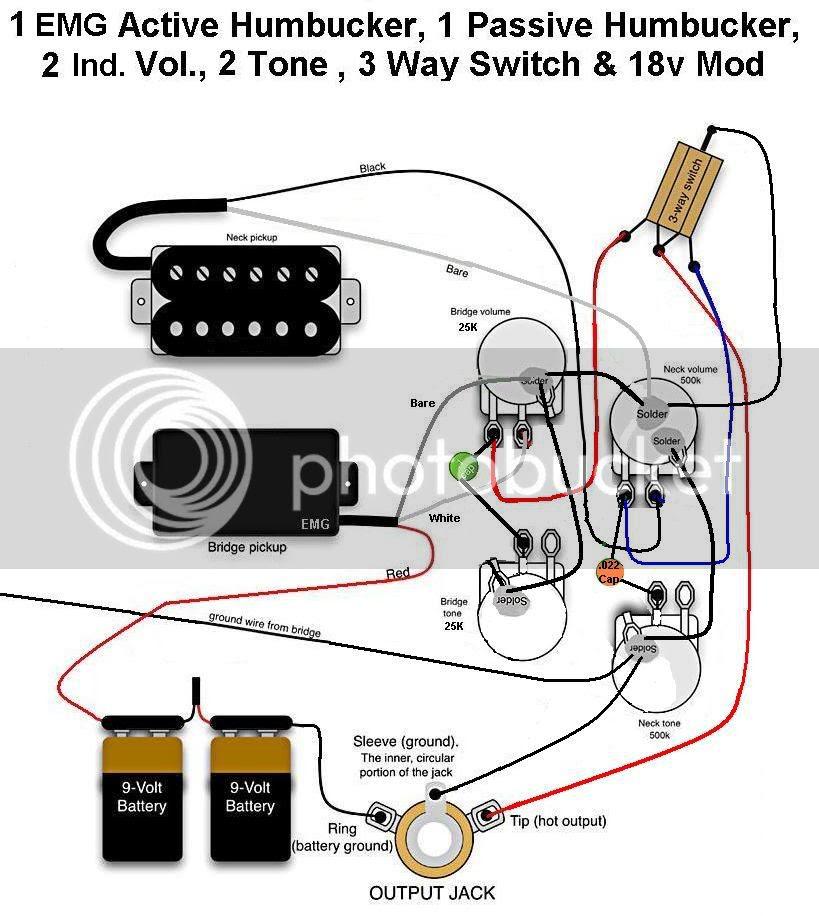 Active Humbucker Wiring Diagram 2