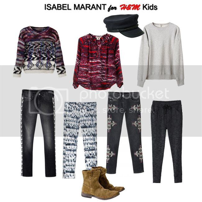 Isabel Marant for H&M Teens and Kids Lookbook