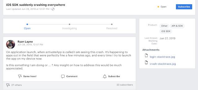Facebook SDK bug crashes apps like Timehop
