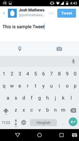 cara menghapus draft di aplikasi twitter android