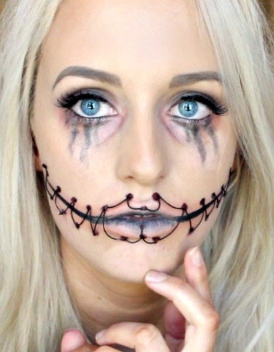 Easy Scary Halloween Makeup Ideas.Easy Scary Halloween Makeup Tutorial For Beginners