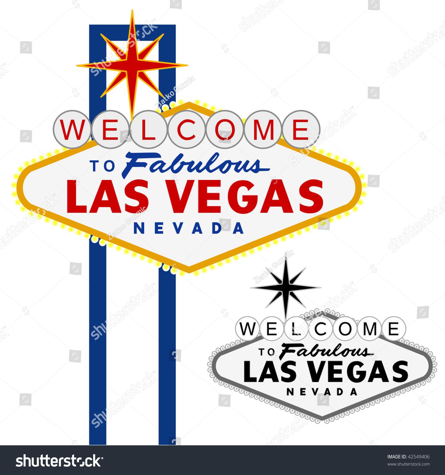 Vector Las Vegas Sign Fully Editable Stock Vector 42549406 ...