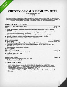 Chronological Order Resume Format Best Resume Examples