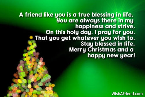 A Friend Like You Is A True Blessing In Lifemerry Christmas