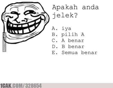 Apakah anda Jelek ?