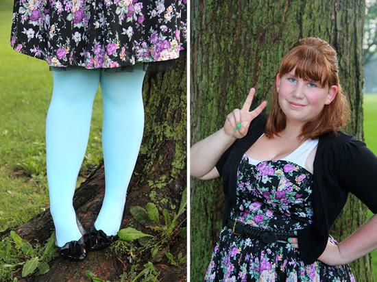 blog lovelymissmegs megs outfit ootd wardrobe dress floral we love colors urban behaviour