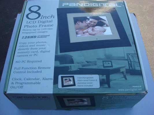 Pandigital 8 Lcd Digital Photo Frame Photo Video For Sale On