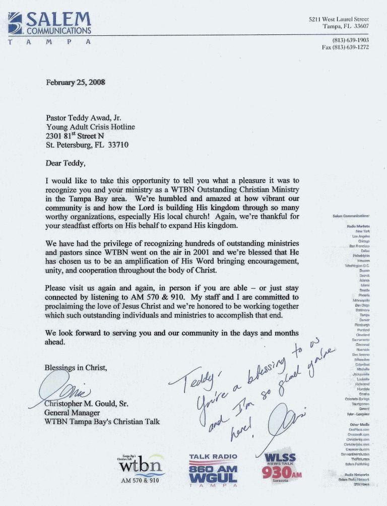 Reference Letter S And Personal Testimonies