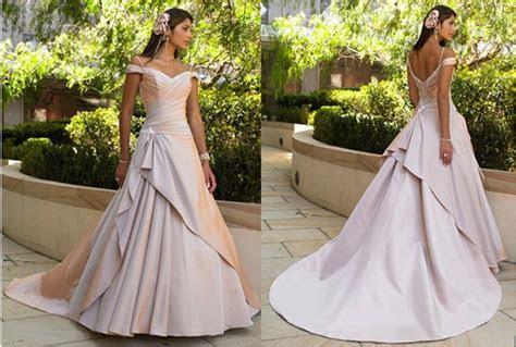 Ruched off the shoulder wedding dress.