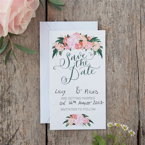 Ginger Ray Floral Boho Wedding Save The Date Cards 10ct