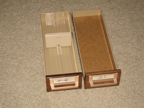 Card Catalog Conversion - Drawers