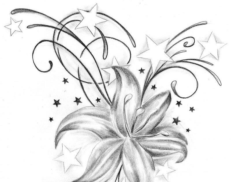 blumen tattoo vorlagen zum ausdrucken  malvorlagen