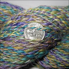 Agate Merino-Silk handspun, close up