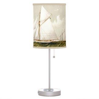 Vintage Sail boat Print Lamps