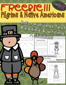 Thanksgiving Activities {FREE Pilgrims & Native Americans