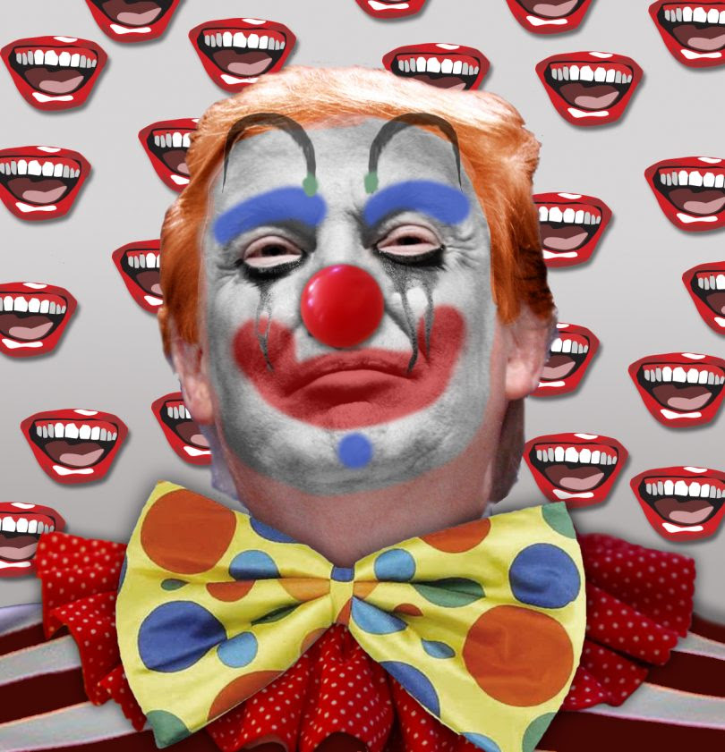 Image result for trump as a clown images