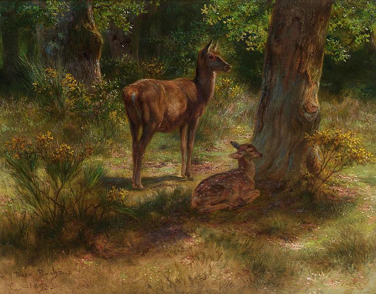 File:Rosa Bonheur - Les cerfs et les fauves dans un bois.jpg
