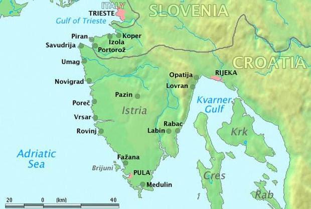 Península Istria.