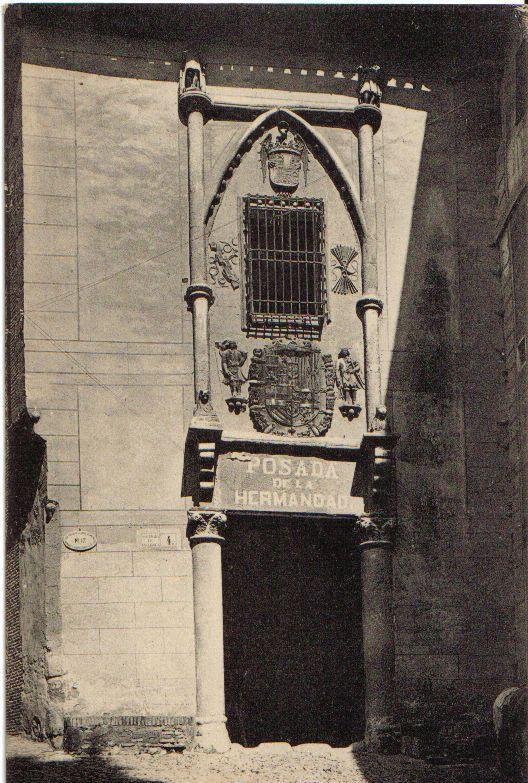 Posada de la Hermandad (Toledo) a principios del siglo XX. Foto Roisin
