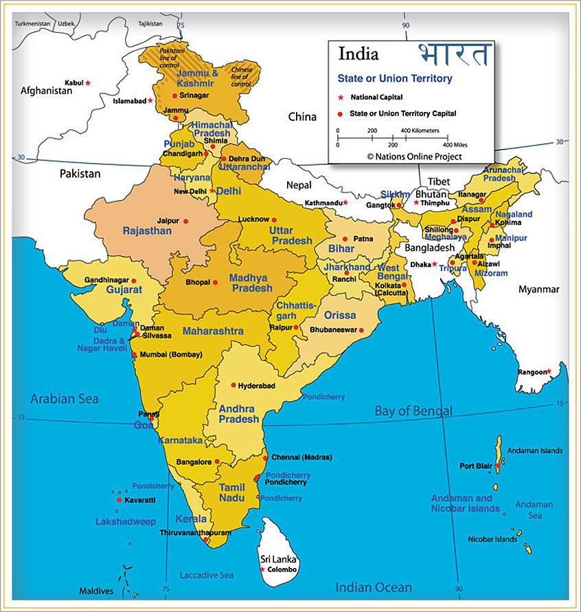 Administrative Map of India