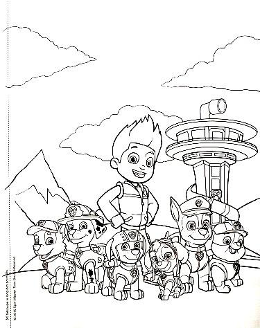 Paw Patrol La Patpatrouille Mon Livre De Coloriages Jeunesse