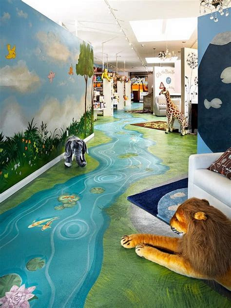 great ideas  kids nature room wall murals painting